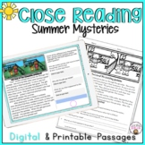 CLOSE READING PASSAGES SUMMER MYSTERIES COMPREHENSION PRACTICE