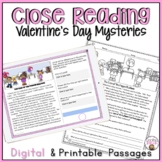 CLOSE READING PASSAGES VALENTINE'S DAY MYSTERIES COMPREHENSION PRACTICE
