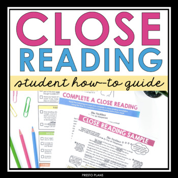 CLOSE READING PRESENTATION, HANDOUTS, & ASSIGNMENT