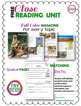 CLOSE READING to CITE the EVIDENCE! {FREE SAMPLE}
