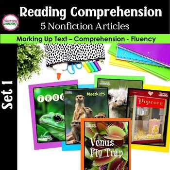 CLOSE READING to Improve Comprehension  {Unit 1 }