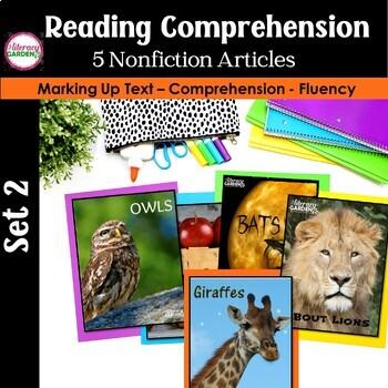 CLOSE READING to Improve Comprehension  {Unit 2 }