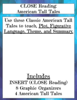 CLOSE Reading: American Tall Tales Songs/Poems