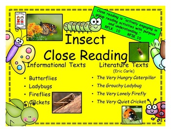 Close Reading - Informational (Insects) and Literature (Er