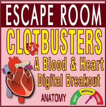 CLOTBUSTERS Escape Room (Breakout)~Heart & Blood~ Anatomy -Digital Locks