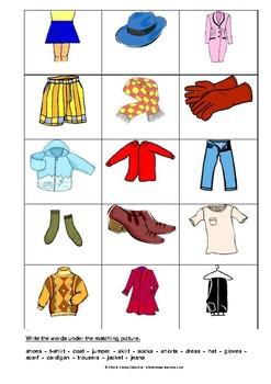 CLOTHES - ACTIVITY