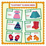 CLOTHES FLASHCARDS.