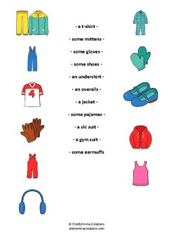 CLOTHES - ACTIVITY