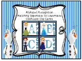 CLOTHESPIN CLIP CARDS FROZEN INSPIRED ALPHABET RECOGNITION