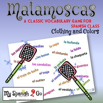 CLOTHING AND COLORS:  Spanish--Classic Flyswatter Game