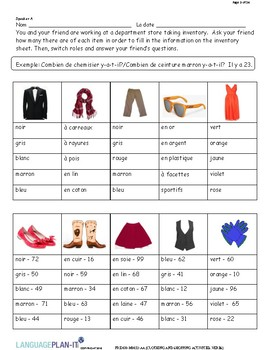 CLOTHING AND SHOPPING ACTIVITIES, VERBS (FRENCH)
