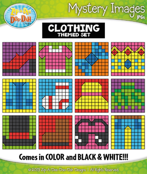 CLOTHING Mystery Images Clipart {Zip-A-Dee-Doo-Dah Designs}