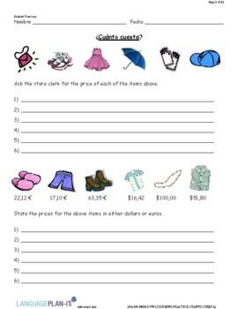 CLOTHING PRACTICE, CUANTO CUESTA (SPANISH)
