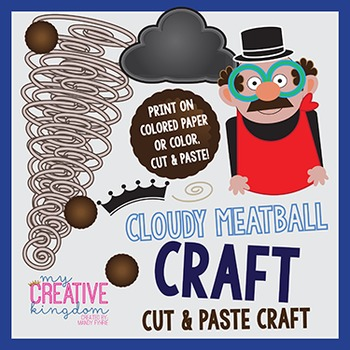 CLOUDY with Chances for Meatballs Craft