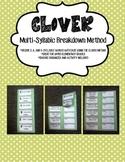 CLOVER FOLDABLE - A Multi-Syllabic Decoding System