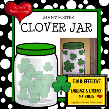 CLOVER JAR POSTER Speech Therapy Pre-K