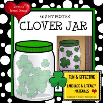 CLOVER JAR POSTER Speech Therapy Pre-K