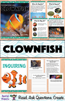 All About Clownfish Nonfiction Unit