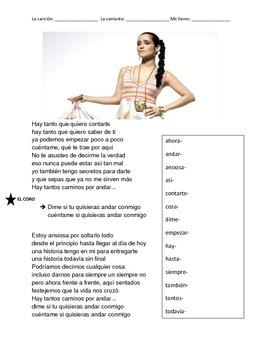 CLOZE SONG// Andar conmigo by Julieta Venegas