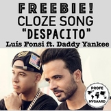"CLOZE SONG FREEBIE! // ""Despacito"" by Luís Fonsi ft. Daddy Yankee"