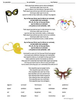 CLOZE SONG// La vida es un carnaval por Celia Cruz