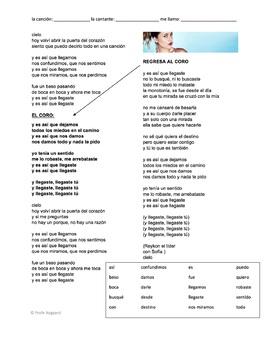 "CLOZE SONG// ""Llegaste tú"" by Sofía Reyes"