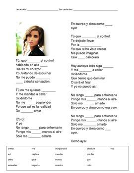CLOZE SONG// Manos al aire by Nelly Furtado