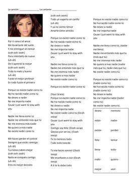 CLOZE SONG// Nadie como tú by Leslie Grace