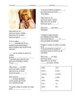 CLOZE SONG// Oye como va by Celia Cruz