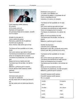CLOZE SONG// Tus besos by Juan Luís Guerra