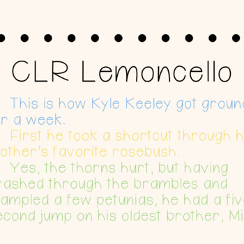 CLR Lemoncello Font and Font Licence