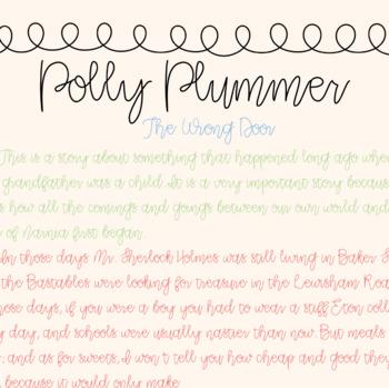 CLR Polly Plummer Font Freebie