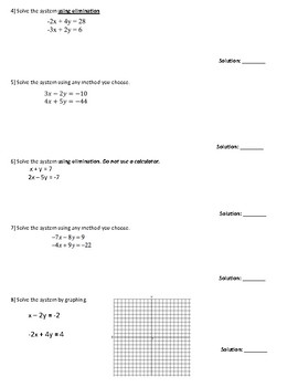 CLUE GAME Systems of Linear Equations Review