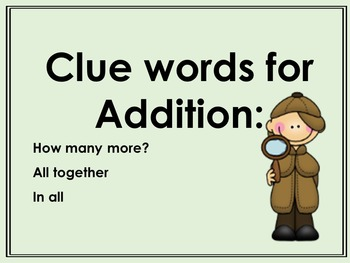 CLUE WORDS - How to tell if you add or subtract