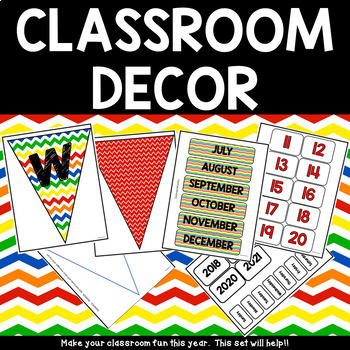 CLassroom Decor - Both Colorful or You Decide