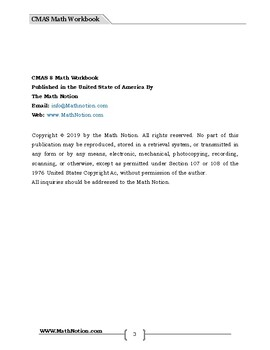CMAS 8 Math Workbook (Colorado)