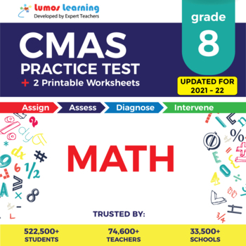 CMAS Practice Test, Worksheets and Remedial Resources - Grade 8 Math Test Prep