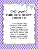 CMC Daily Spiral Review Math Level C Lessons 1-11 Printabl