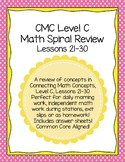 CMC Daily Spiral Review Math Level C Lessons 21-30 Printab