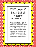CMC Daily Spiral Review Math Level C Lessons 31-40 Printab
