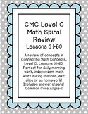 CMC Daily Spiral Review Math Level C Lessons 51-60 Printab