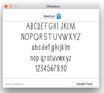 CMCelery Font Download Freebie