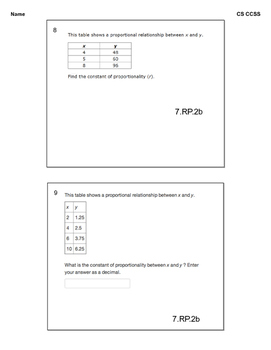 CMP Comparing and Scaling CCSS end of unit assessment (pdf)