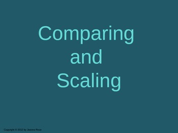 CMP Comparing and Scaling Jeopardy Style Game
