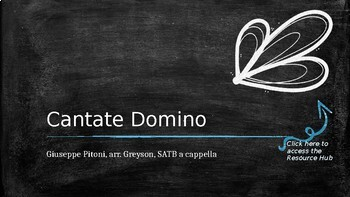 CMP Lesson Plan: Cantate Domino