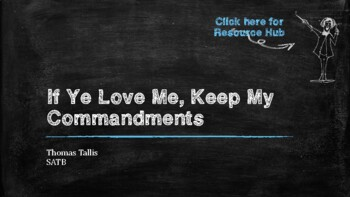 CMP Lesson Plan: If Ye Love Me by Thomas Tallis