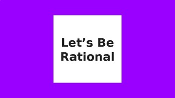 CMP- Let's Be Rational