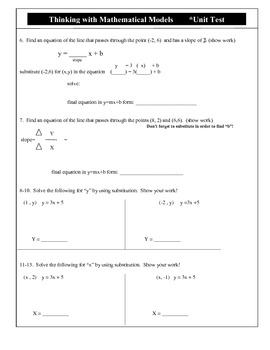 CMP - Thinking with Mathematical Models - Unit test & Modified Unit Test
