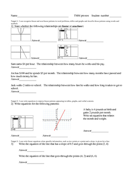 Mathematical modeling teaching resources teachers pay teachers cmp thinking with mathematical models pretest with learning targets fandeluxe Gallery
