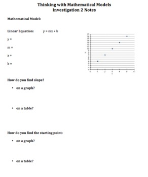 CMP2 - Thinking with Mathematical Models - Investigation 2 Notes